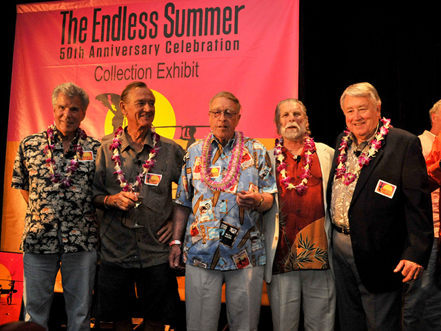 A Few Years Back Endless Summer Dignitaries Paul Allen Robert August Bruce Brown Mike Hynson And Bob Bagley Photo Hetzel Frame