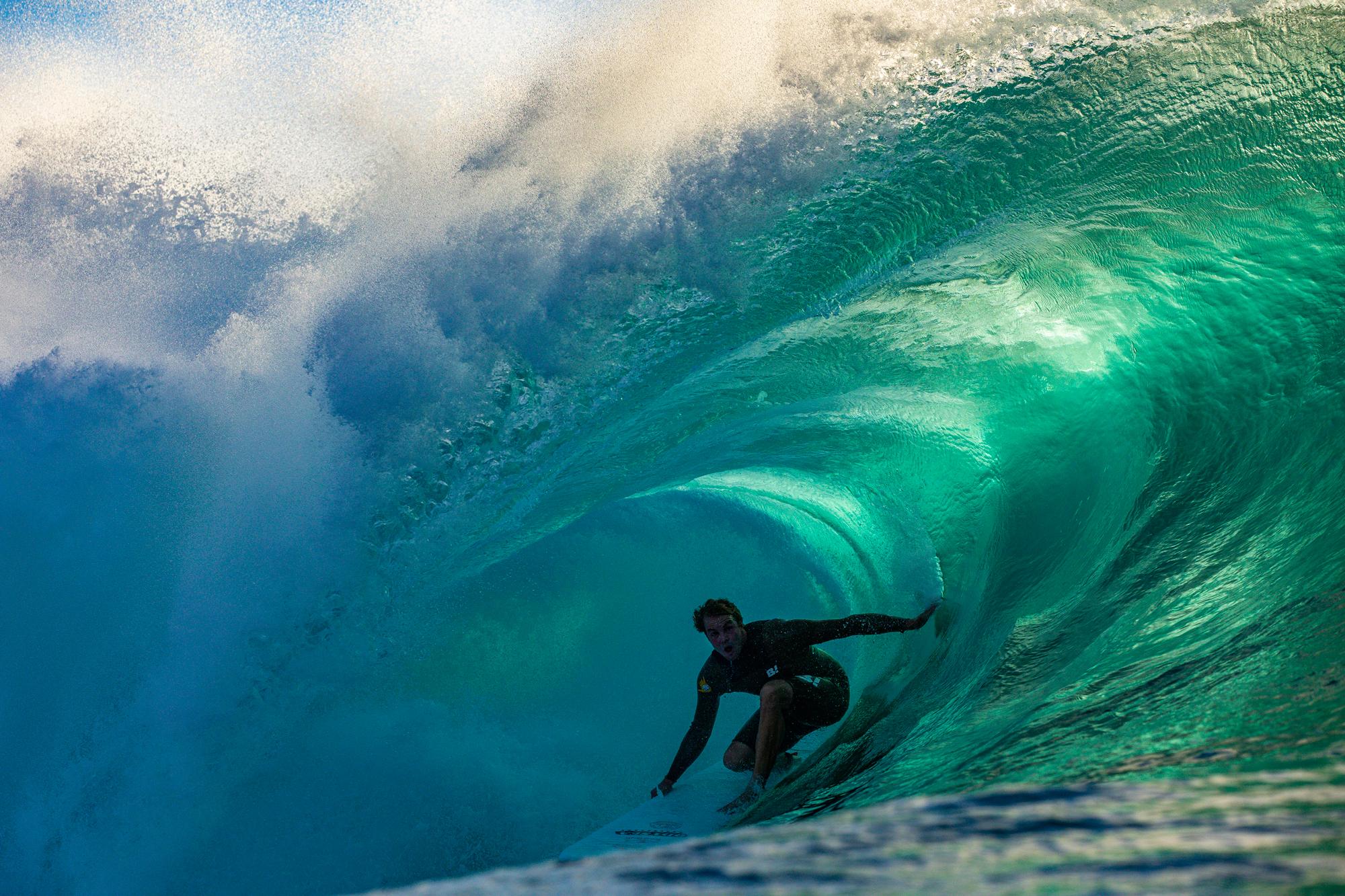 e20e504eab Jamie O'Brien at XL Pipeline on an XL Catch Surf Odysea soft-top. Photo:  Will Weaver