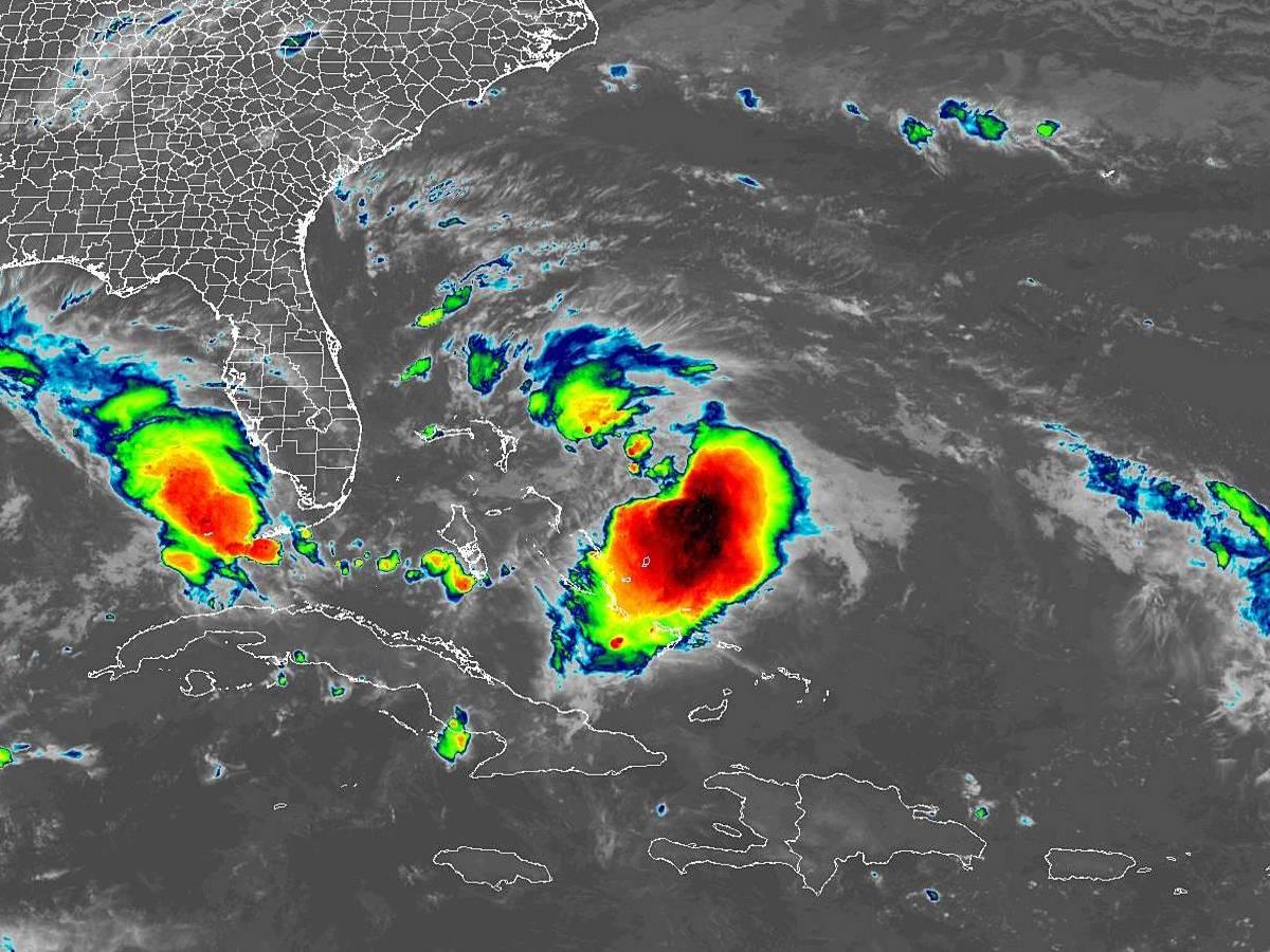 Tropical Storm Humberto -- Bahamas In Path; Florida, Southeast See Surf